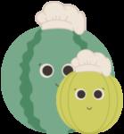 Picto Les plants de melons & pastèques